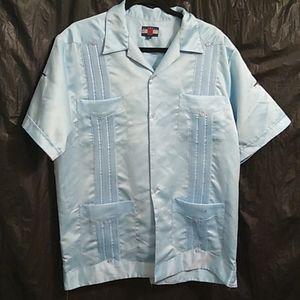 Scorpio button up shirt w/ scorpions and L